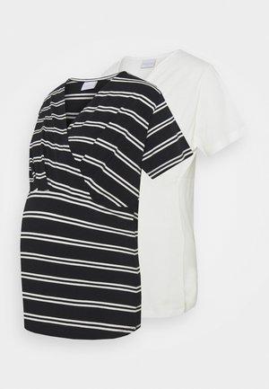 MLSIA  2 PACK - T-shirts med print - snow white/black