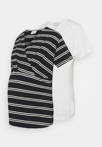 MLSIA  2 PACK - T-shirt z nadrukiem - snow white/black