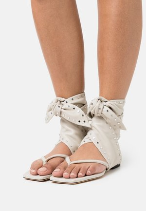 ARZON - T-bar sandals - light grey