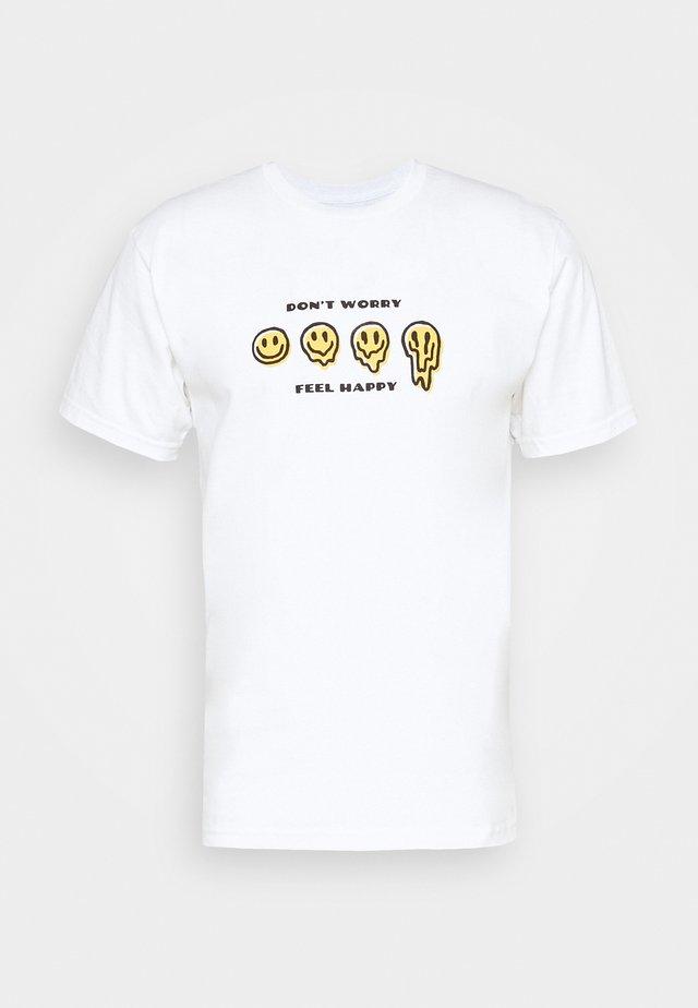 MELTER  - T-shirt imprimé - white