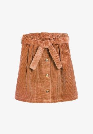 CORD  - Áčková sukně - nude