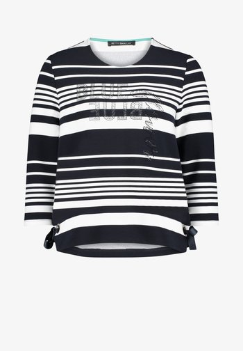 MIT RINGEL - Sweatshirt - dunkelblau/weiß