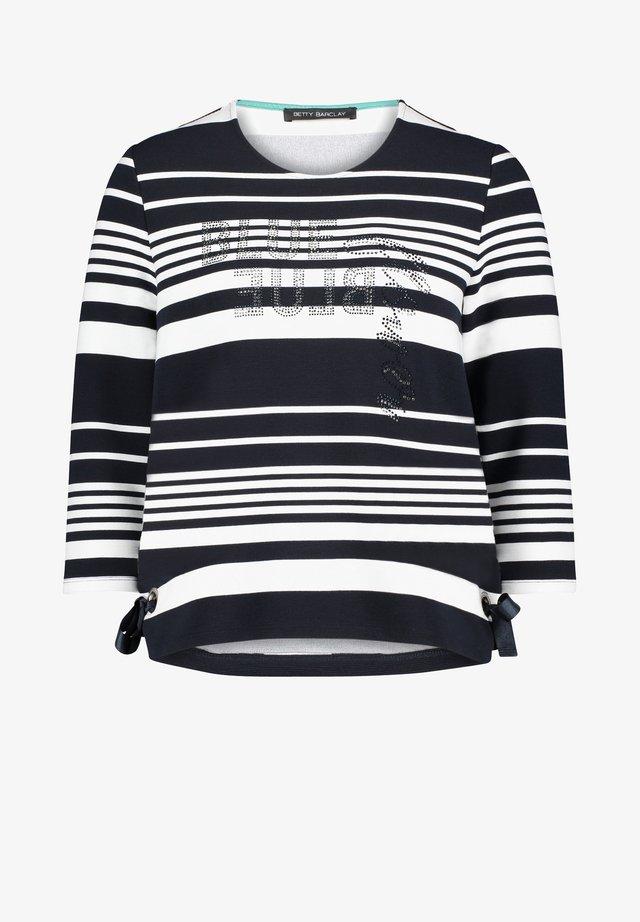 MIT RINGEL - Sweater - dunkelblau/weiß