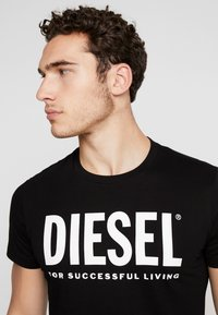 Diesel - T-DIEGO-LOGO T-SHIRT - Print T-shirt - black - 4