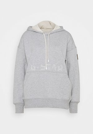 LOOSE FIT FADED BACK GRAPHIC HOODIE - Hoodie - whitebait heather
