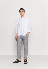 Springfield - PANT TEXTURAS - Trousers - dark grey - 1