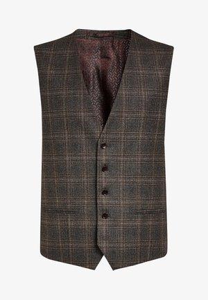 CERRUTI SIGNATURE CHECK SUIT - Suit waistcoat - grey