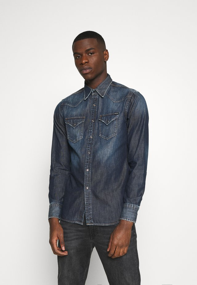 Overhemd - dark blue denim