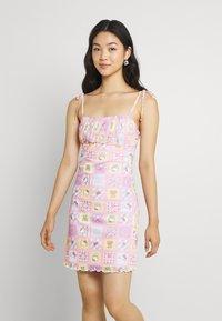 NEW girl ORDER - PATCHWORK BODYCON DRESS - Shift dress - multicoloured - 0
