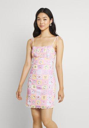 PATCHWORK BODYCON DRESS - Robe fourreau - multicoloured