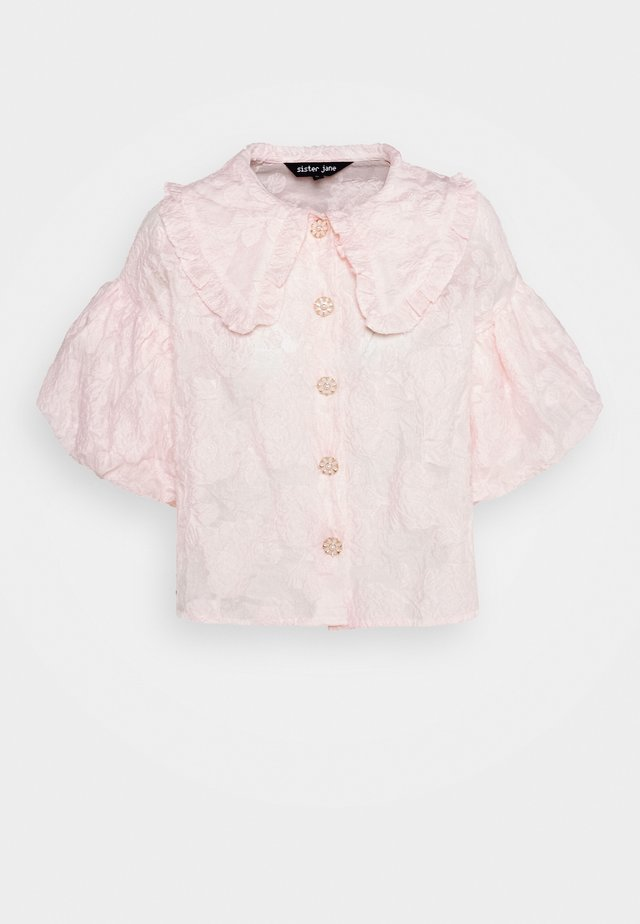 NEW ROUGE PUFF SLEEVE SHIRT - Bluser - pink