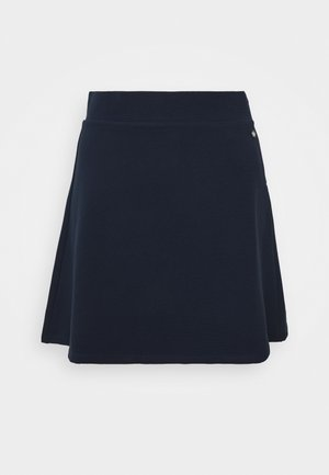 STRUCTURED SKIRT - A-Linien-Rock - real navy blue