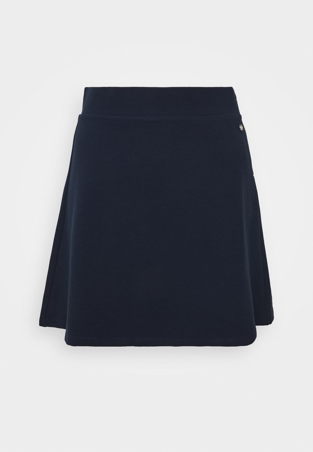 STRUCTURED SKIRT - Falda acampanada - real navy blue