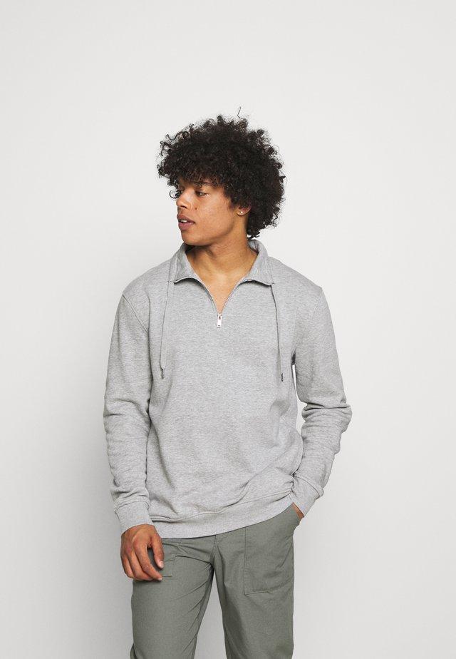Felpa con cappuccio - light grey melange