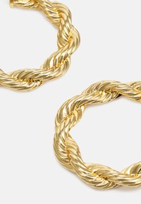 Rebecca Minkoff - ROPE CHAIN HOOP EARRING - Pendientes - gold-coloured - 3