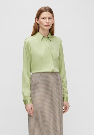MALLORY SILK - Button-down blouse - tea green