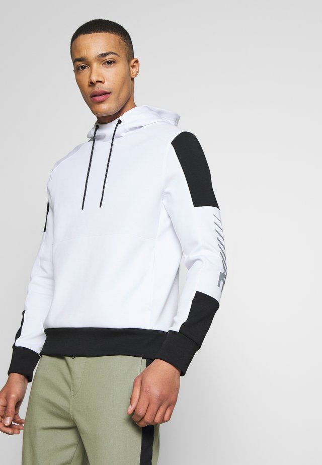 HOODIE WITH PANEL POCKET - Sweat à capuche - white