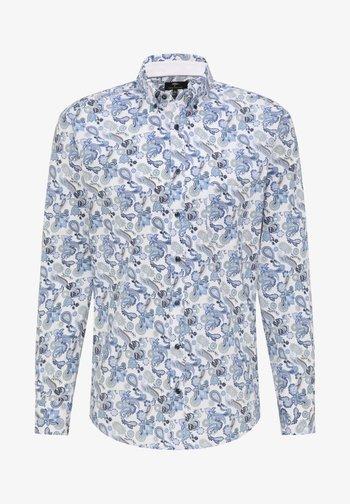 Shirt - blue paisley