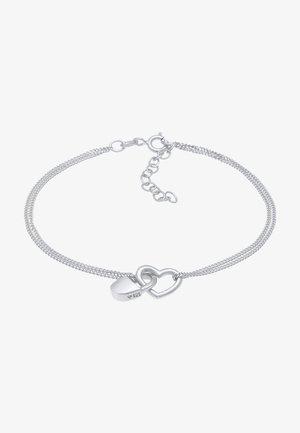 HEART LOCK - Bracelet - silber