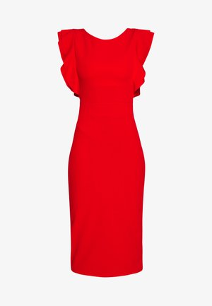 FRILL SLEEVE MIDI DRESS - Maxi šaty - red