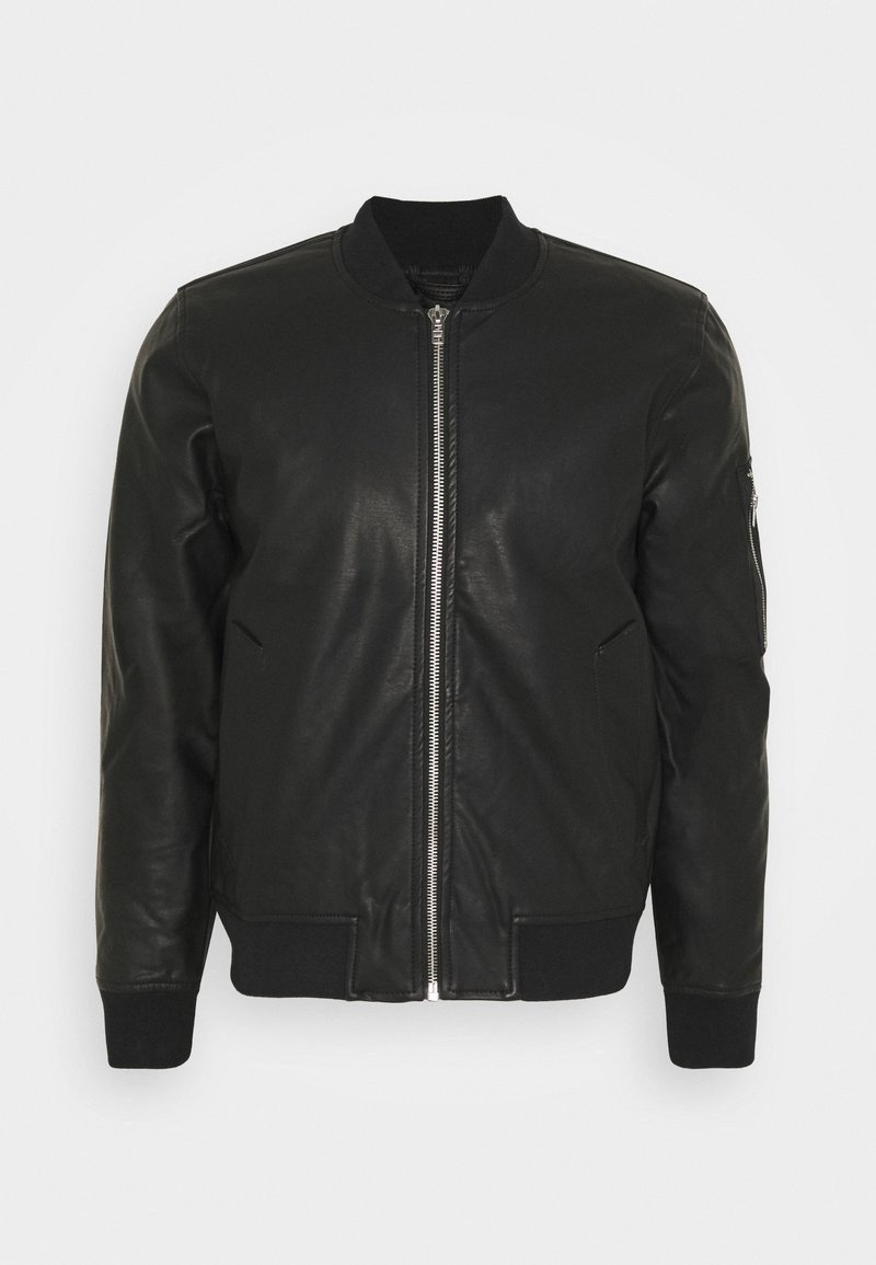 Abercrombie & Fitch - Faux leather jacket - black