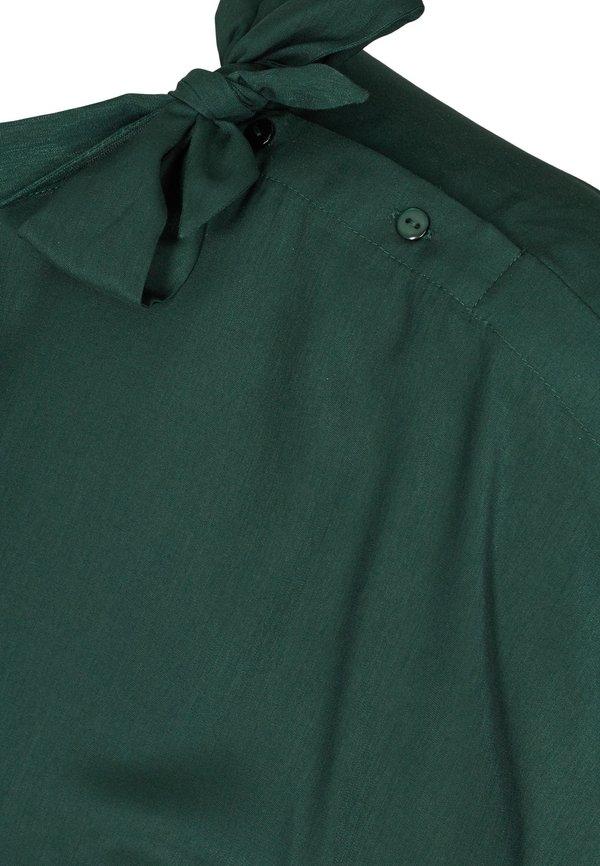Zizzi MIT BINDEDETAIL - Bluzka - dark green/ciemnozielony WHBX