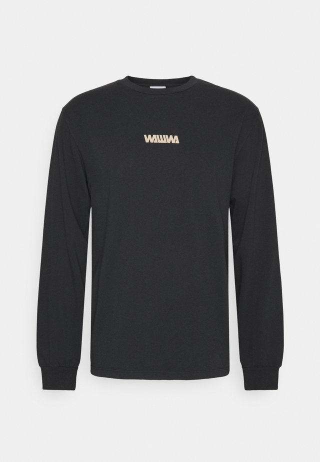 BASIC LOGO LONGSLEEVE UNISEX - Long sleeved top - black