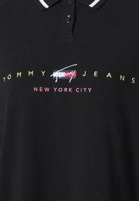 Tommy Jeans - MODERN LOGO POLO DRESS - Day dress - black - 2