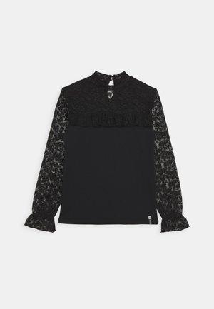 PHOEBY - T-shirt à manches longues - black