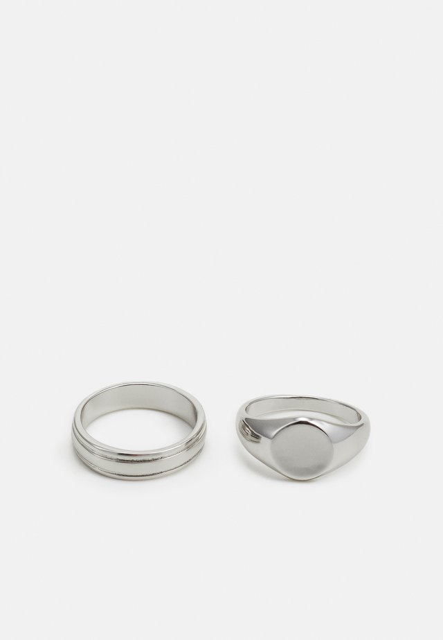 SIGNET RIDGE 2 PACK - Ring - silver-coloured