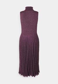 Milly - PLEATED MIDI DRESS - Shift dress - black/pink - 1