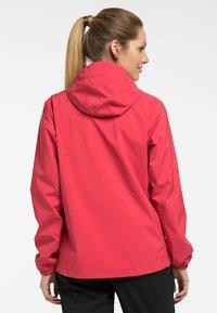 Haglöfs - BUTEO JACKET - Hardshell jacket - hibiscus red - 1