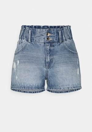 ONLLU LIFE - Denim shorts - medium blue denim