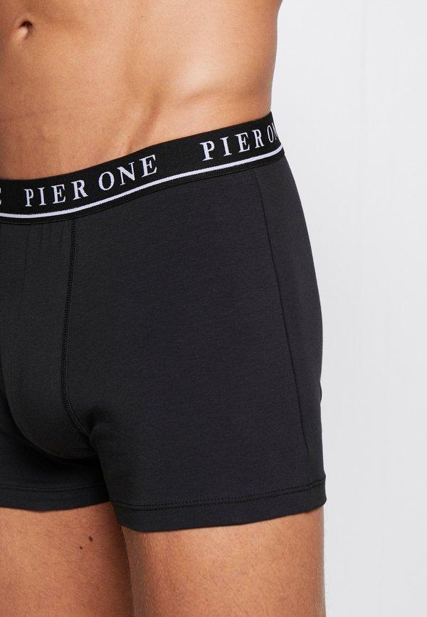 Pier One 5 PACK - Panty - black/czarny Odzież Męska XVZO