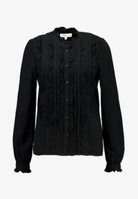 Vero Moda - VMKAREN FRILL - Button-down blouse - black