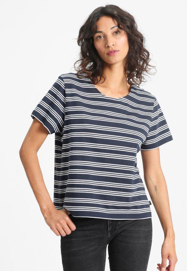 IDA - Print T-shirt - navy/white