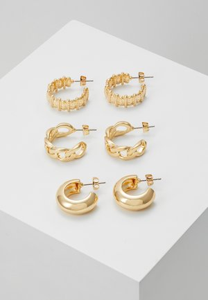 PCMISTATA 3 PACK - Earrings - gold-coloured