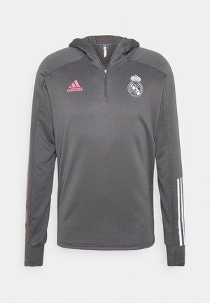 REAL MADRID SPORTS FOOTBALL HOODED - Klubbkläder - grey