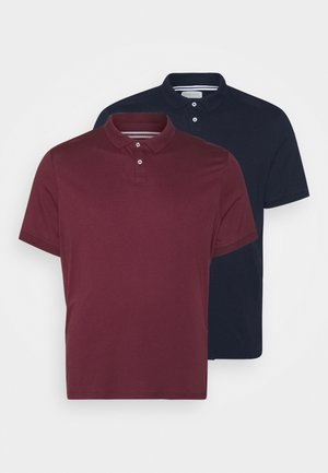 Poloshirt - dark blue/bordeaux