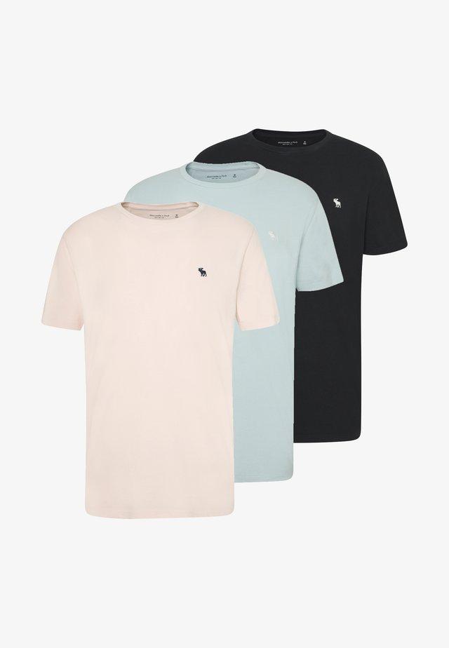 SEASONAL CREW  3 PACK - T-shirt basique - navy/blue/pink