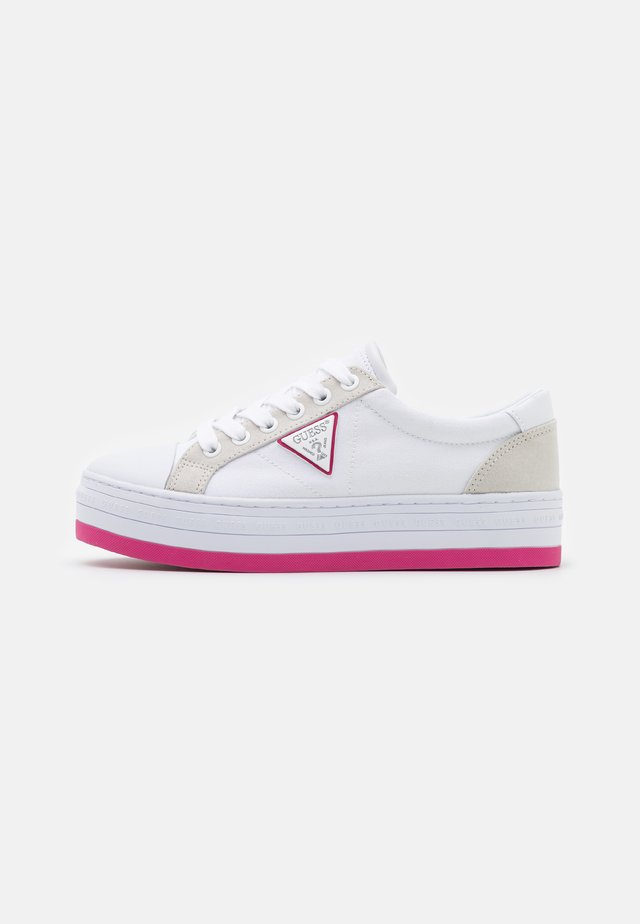 BRODEY - Sneakersy niskie - white/rose