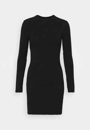 MARIA DRESS - Gebreide jurk - black