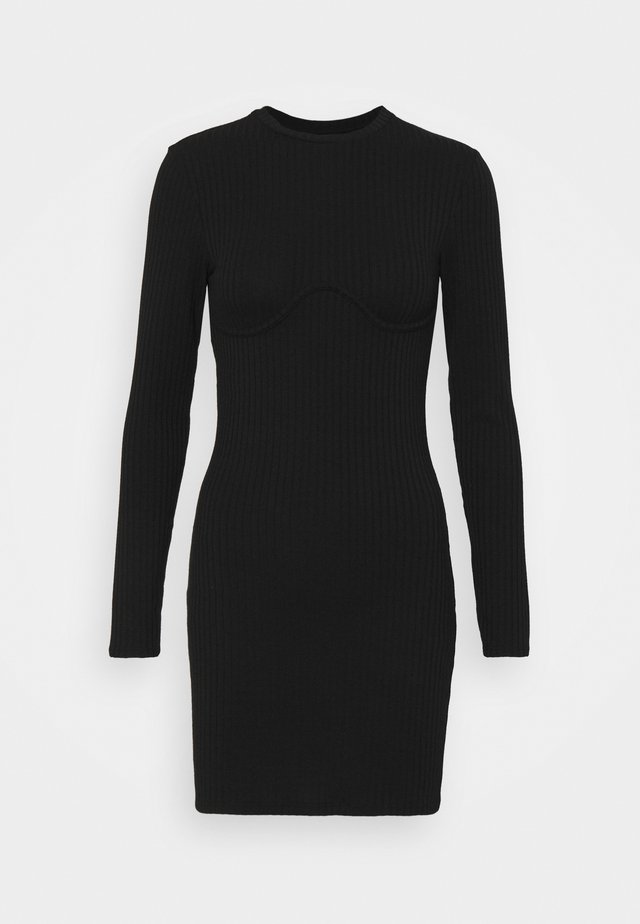MARIA DRESS - Vestido de punto - black