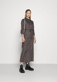 NU-IN - BELTED DRESS - Maxi dress - dark grey - 1