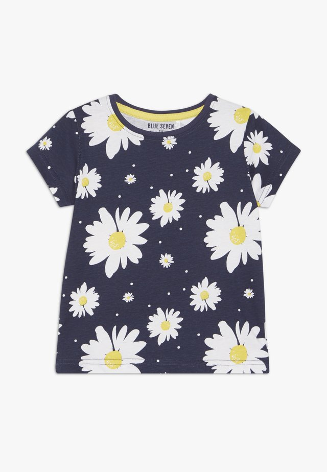 T-shirts med print - dunkel blau