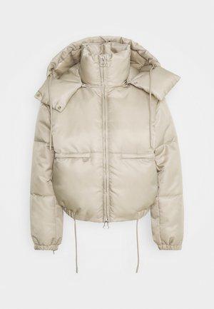 HANNA SHORT PUFFER JACKET - Winter jacket - beige