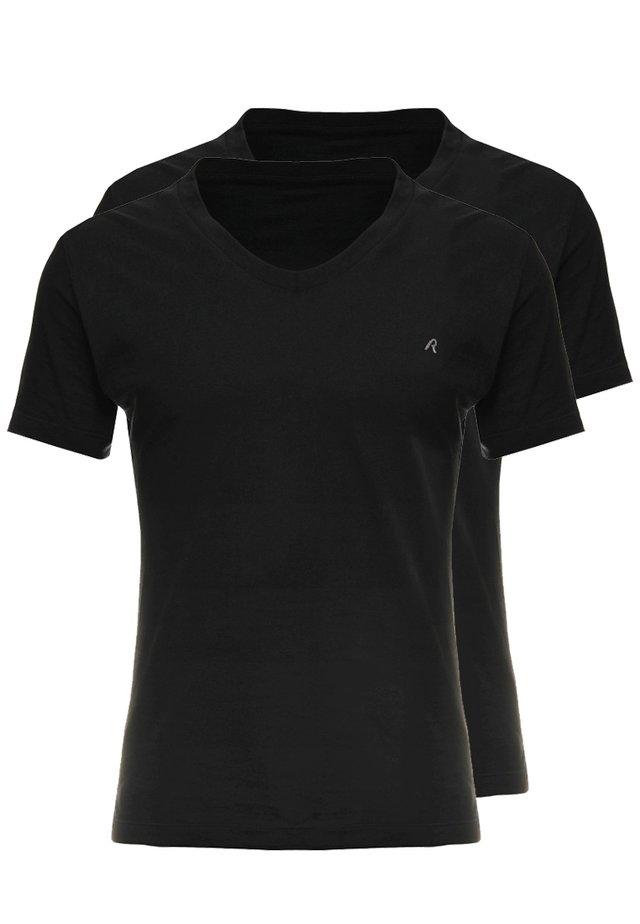 2 PACK - T-Shirt basic - black