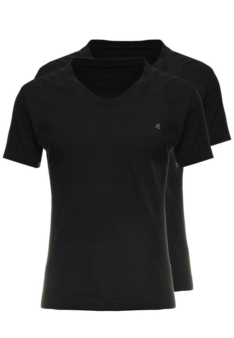 Replay - 2 PACK - T-shirt basic - black