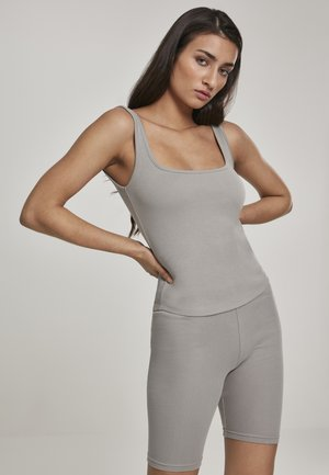 WIDE NECK  - Top - gray