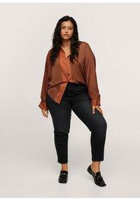 Mango - Button-down blouse - marrón - 1